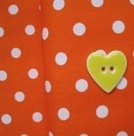 Robert Kaufman 8mm orange spot