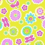 Erin Mc Morris Greenhouse backyard bloom citron on Flannel
