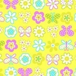 Erin Mc Morris Greenhouse butterfly garden citron  on Flannel