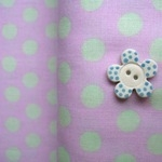 Kaffee Fassett 8mm spot  mint on pink
