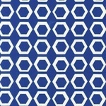 Robert Kaufman geometric Stockholm on vintage blue