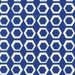 BOLT END- Robert Kaufman geometric Stockholm on vintage blue