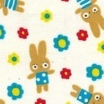 Lecien TP collection bunnies in spotty dresses