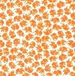 Michael Miller little elephants in tangerine