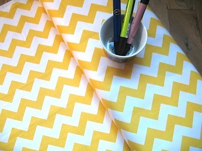 Riley Blake Chevrons in yellow