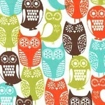 Michael Miller Swedish owls in brown