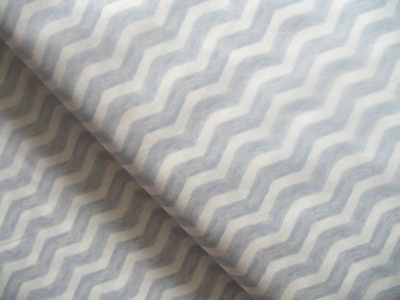 Sarah Jane Designs - out to sea water chevron in grey
