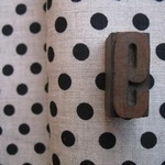 'La couture' pure linen black spot on natural