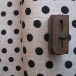 'La couture' pure linen black spot on natural