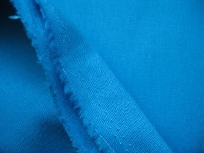 Broader width LINEN in sea blue