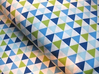 Anne Kelle remix tented triangles in blue