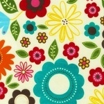 Ann Kelle Madeline scattered flower FLANNEL