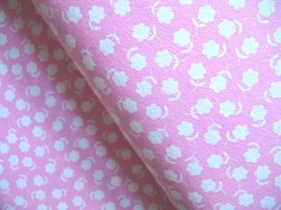 Marie Perkins ELLA simple flower on pink 'FLANNEL