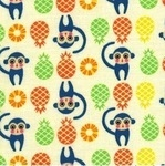 Lecien tiny prints collection monkeys and pineapples