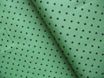 Lecien scattered 4mm brown dot on green