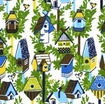 Dear Stella Garden party bird houses in blue