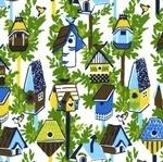 Dear Stella Garden party bird houses in blue
