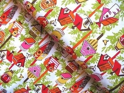 Dear Stella Garden party bird houses in orange
