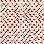 Dear Stella 3mm dot cherry red on cream