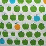 Sevenberry green apples on white