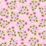 Studio - E, bloom bursts, pink scattered dandelion spray