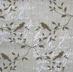 'Madame Bijoux Paris' pure linen bird in sage