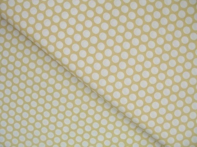 Birch Fabrics ORGANIC dot ties on yellow