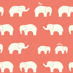 Birch Fabrics ORGANIC Ellie Fam in coral