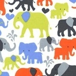 Michael Miller Elephant walk in orange