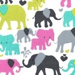 Michael Miller Elephant walk in grey