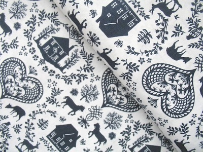 Northcott  Simple pleasures Scandi scene in navy