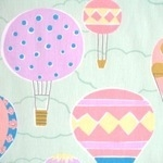 Lecien Isso Ecco decorated hot air balloons in mint