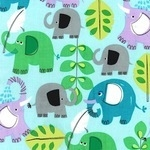 Michael Miller Pachyderm shower elephant