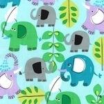 BOLT END - Michael Miller Pachyderm shower elephant