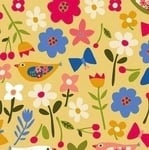 Carolyn Gavin Village green ditzy geo flower on yellow