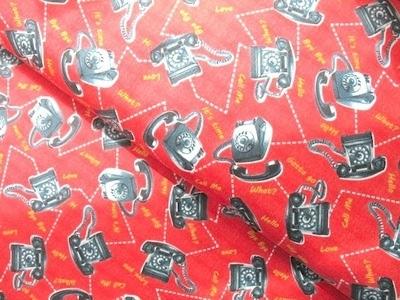 Windham fabrics bye bye birdy retro bakelite phone