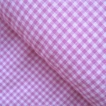 Stof Nordso Okotex standard 100  pink gingham