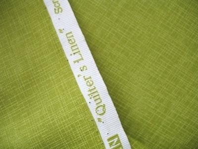 Robert Kaufman's Quilters Linen in charteuse
