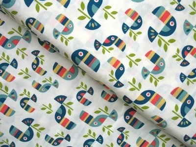 Birch Fabrics ORGANIC safari soiree toucan tango