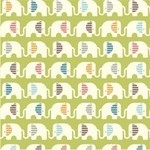 Birch Fabrics ORGANIC safari soiree ele train in grass