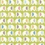Birch Fabrics ORGANIC safari soiree ele train in grass