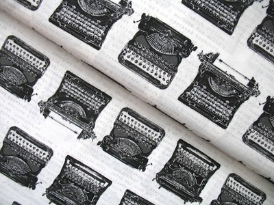 Robert Kaufman 'objects' vintage typewriters white