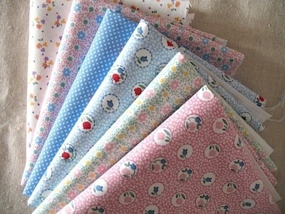 Mini cloth stack Grandma's Garden is lush