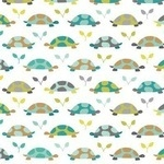 Patty Slongier, Les Amis Turtle parade in teal