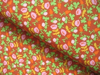 Heather Ross Briar Rose flower calico in brown
