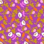 Heather Ross Briar Rose flower calico in lilac