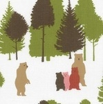Westfalenstoffe Linz a family of bears in the forest (wide)