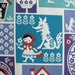 Kokka Red riding hood patchwork pieces in silhouette