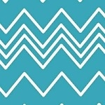 French Bull Ziggy cheeky chevron in ice blue