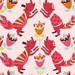 Birch Fabrics 'yay day' lovely fox- ORGANIC